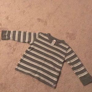 3 for $15⭐️ Gymboree Gray & White Stripped Waffle